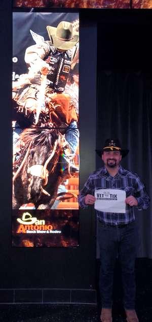 ROBERTO attended San Antonio PRCA Rodeo Semi-Finals Followed by BUSH on Feb 19th 2020 via VetTix