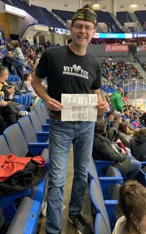 Gregory attended Hartford Wolf Pack vs. Hershey Bears - AHL on Mar 7th 2020 via VetTix