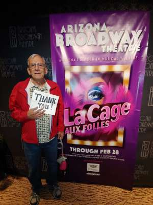 Gordy and Mary Jo attended LA Cage Aux Folles on Feb 25th 2020 via VetTix