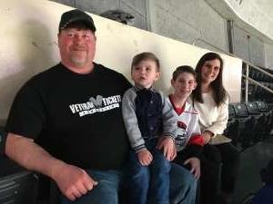 Rob attended Charlotte Checkers vs. Utica Comets- AHL on Mar 7th 2020 via VetTix