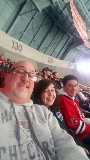 Pat attended Charlotte Checkers vs. Utica Comets- AHL on Mar 7th 2020 via VetTix