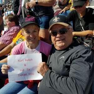 Anthony attended Pennzoil 400 - KB100 Kurt Busch Fan Appreciation Tickets - NASCAR Cup Series on Feb 23rd 2020 via VetTix