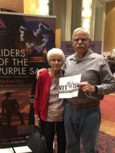 Teddy attended Riders of the Purple Sage on Feb 28th 2020 via VetTix