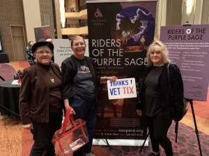 Lynne attended Riders of the Purple Sage on Feb 28th 2020 via VetTix