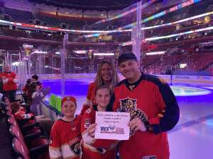 The Hoops Pack of 4 attended Florida Panthers vs. Calgary Flames - NHL on Mar 1st 2020 via VetTix