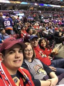 Vic S attended Florida Panthers vs. Calgary Flames - NHL on Mar 1st 2020 via VetTix
