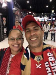 Oquendo Family attended Florida Panthers vs. Calgary Flames - NHL on Mar 1st 2020 via VetTix
