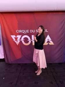 isabelle attended Cirque Du Soleil: Volta on Feb 26th 2020 via VetTix