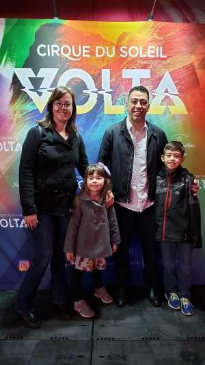 Reyes attended Cirque Du Soleil: Volta on Feb 25th 2020 via VetTix