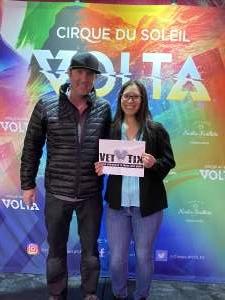 Davina attended Cirque Du Soleil: Volta on Feb 25th 2020 via VetTix