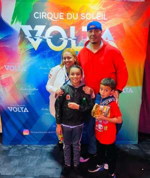 Muñoz Family  attended Cirque Du Soleil: Volta on Feb 25th 2020 via VetTix