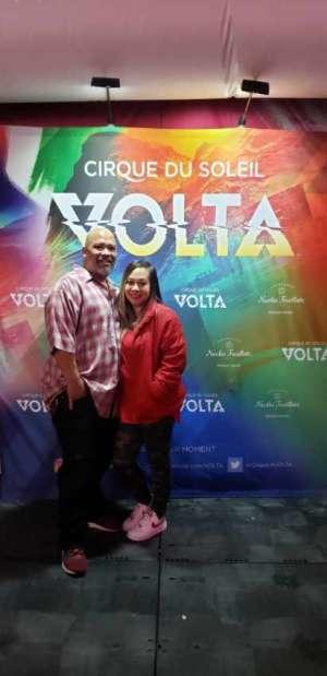 Danei attended Cirque Du Soleil: Volta on Feb 25th 2020 via VetTix