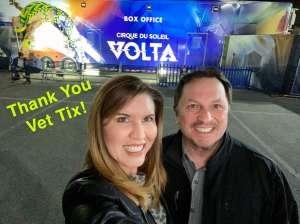 George attended Cirque Du Soleil: Volta on Feb 25th 2020 via VetTix