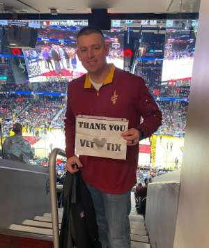John attended Cleveland Cavaliers vs. San Antonio Spurs - NBA on Mar 8th 2020 via VetTix