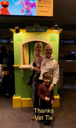 Patrick attended Sesame Street Live! Let's Party! on Feb 23rd 2020 via VetTix