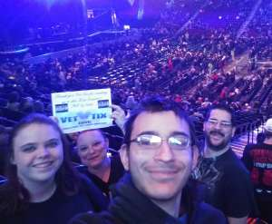George attended Kiss: End of the Road World Tour on Feb 25th 2020 via VetTix