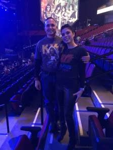 Levi attended Kiss: End of the Road World Tour on Feb 25th 2020 via VetTix