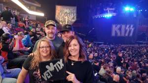 Chris attended Kiss: End of the Road World Tour on Feb 25th 2020 via VetTix
