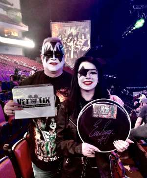 Darryl and Desiree Armistead  attended Kiss: End of the Road World Tour on Feb 25th 2020 via VetTix