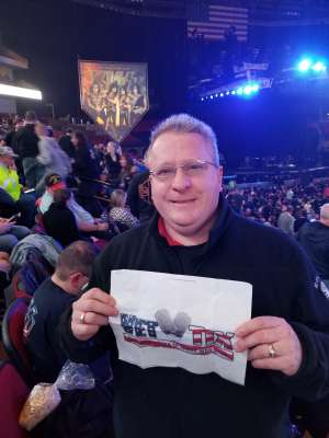 Ron attended Kiss: End of the Road World Tour on Feb 25th 2020 via VetTix