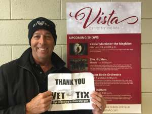 Fred attended Xavier Mortimer: Magical Shadows on Feb 29th 2020 via VetTix
