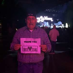 Brian attended Justin Moore & Tracy Lawrence on Mar 6th 2020 via VetTix