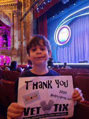 Eileen attended Nick Jr. Live! Move to the Music on Feb 29th 2020 via VetTix