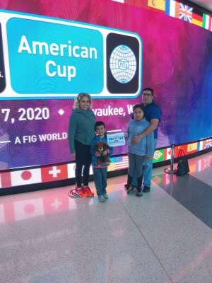 Cynthia attended USA Gymnastics - American Cup Weekend 2020 - All-sessions on Mar 6th 2020 via VetTix