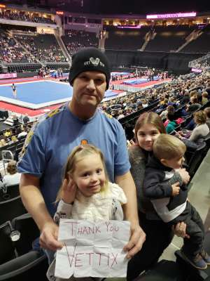 Prosper attended USA Gymnastics - American Cup Weekend 2020 - All-sessions on Mar 6th 2020 via VetTix