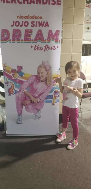 Elizabeth attended Jojo Siwa - D. R. E. A M. on Mar 11th 2020 via VetTix