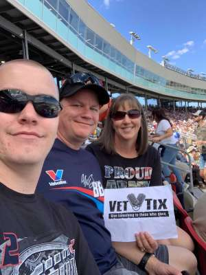 Jim k attended Fanshield 500 - Phoenix Raceway on Mar 8th 2020 via VetTix