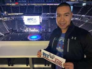 Ricardo attended UFC 248 on Mar 7th 2020 via VetTix