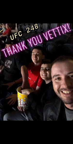 Danny Cummings attended UFC 248 on Mar 7th 2020 via VetTix