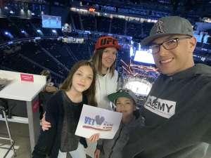 Jay attended UFC 248 on Mar 7th 2020 via VetTix
