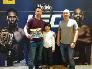 Sergeant Yu attended UFC 248 on Mar 7th 2020 via VetTix