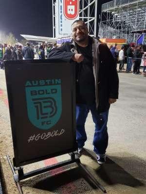 Antonio attended Austin Bold FC vs. New Mexico United - USL on Mar 7th 2020 via VetTix