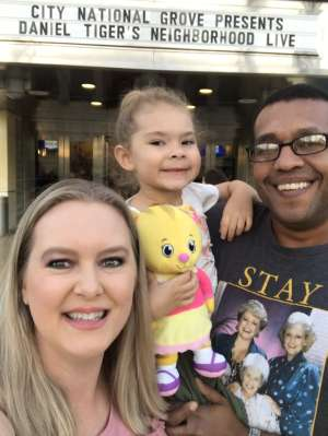 Lacey Spencer attended Daniel Tiger's Neighborhood Live: Neighbor Day on Mar 3rd 2020 via VetTix