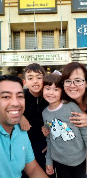 Reyes attended Daniel Tiger's Neighborhood Live: Neighbor Day on Mar 3rd 2020 via VetTix