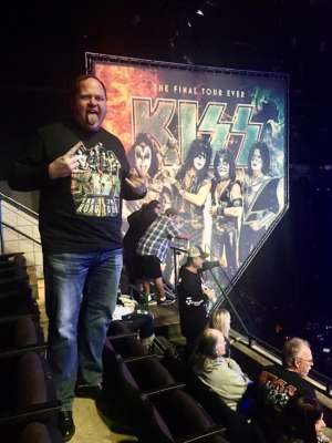 Eric attended KISS: End of the Road World Tour on Mar 2nd 2020 via VetTix