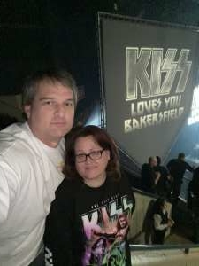 Pat & Tabitha Meindl attended KISS: End of the Road World Tour on Mar 2nd 2020 via VetTix