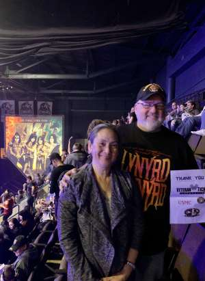 Jeff attended KISS: End of the Road World Tour on Mar 2nd 2020 via VetTix