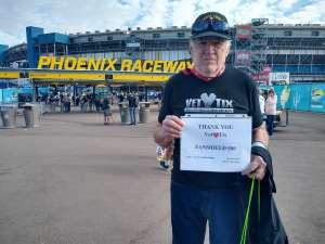 Stan attended Fanshield 500 - KB100 Kurt Busch Fan Appreciation Tickets - NASCAR Cup Series on Mar 8th 2020 via VetTix