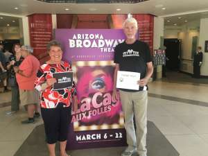 Dennis  attended LA Cage at Herberger Theater on Mar 7th 2020 via VetTix