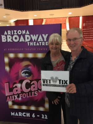 John attended LA Cage at Herberger Theater on Mar 13th 2020 via VetTix