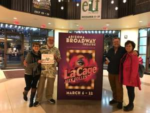 Jerry Charette attended LA Cage at Herberger Theater on Mar 13th 2020 via VetTix