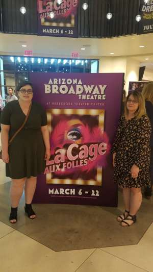 Pauley attended LA Cage at Herberger Theater on Mar 6th 2020 via VetTix