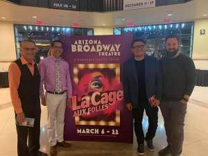 Larry attended LA Cage at Herberger Theater on Mar 6th 2020 via VetTix