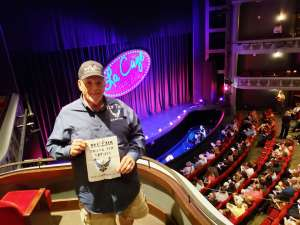 DJ attended LA Cage at Herberger Theater on Mar 6th 2020 via VetTix