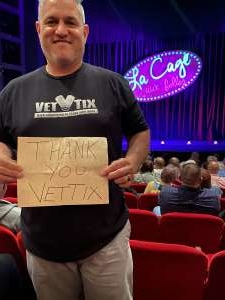 Shawn Soria attended La Cage at Herberger Theater on Mar 15th 2020 via VetTix