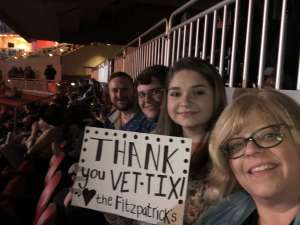 Don Fitzpatrick  attended The Lumineers Iii: the World Tour on Mar 10th 2020 via VetTix